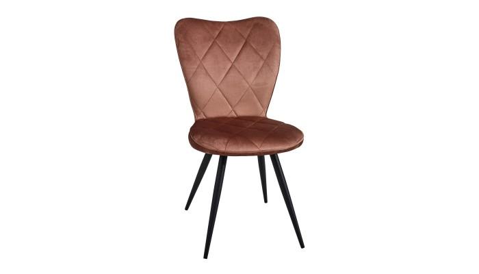 SERAPHINE - Chaise tissu pied métal