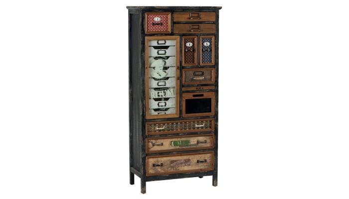 HAROLD - Armoire 18 tiroirs 1 porte